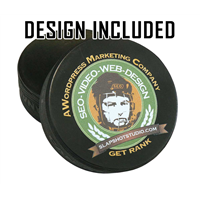 Hockey Puck (Black) Professionally Designed