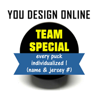 Hockey Puck (Team Special) Design Online or Upload Artwork